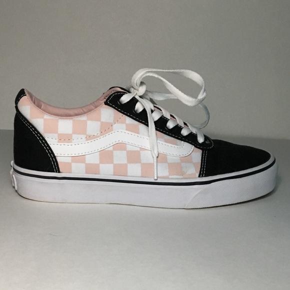 Pink Checkered Old Skool Vans | Poshmark